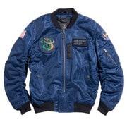 HOUSTON HTVA-2031S MA-1 CUSTOM MESH M/C JAC NAVY L [レーシングジャケット ネイビー L]