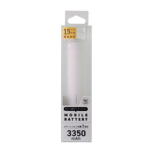 OWL-LPB3001-WH [スティック型モバイルバッテリー ホワイト]