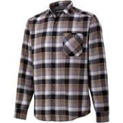 プラッドロングスリーブシャツ PLAID L/S SHIRT TOMQJB76 BK Lサイズ [アウトドア シャツ メンズ]