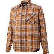 プラッドロングスリーブシャツ PLAID L/S SHIRT TOMQJB76 BW Sサイズ [アウトドア シャツ メンズ]