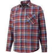 プラッドロングスリーブシャツ PLAID L/S SHIRT TOMQJB76 NV Mサイズ [アウトドア シャツ メンズ]