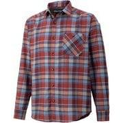 プラッドロングスリーブシャツ PLAID L/S SHIRT TOMQJB76 NV Sサイズ [アウトドア シャツ メンズ]