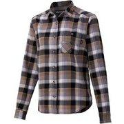 ウィメンズプラッドロングスリーブシャツ W's Plaid L/S Shirt TOWQJB76 BK Lサイズ [アウトドア シャツ レディース]