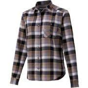 ウィメンズプラッドロングスリーブシャツ W's Plaid L/S Shirt TOWQJB76 BK Sサイズ [アウトドア シャツ レディース]