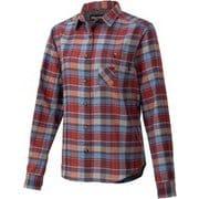ウィメンズプラッドロングスリーブシャツ W's Plaid L/S Shirt TOWQJB76 NV Mサイズ [アウトドア シャツ レディース]