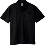 330 AVP ドライポロシャツ(ポケット付) ブラック M