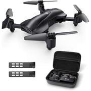 HS165 [GPS搭載カメラ付き折り畳み式小型セルフィードローン/バッテリー2個付き(飛行時間30分)1080Pカメラ付き・生中継可能・高度維持機能]