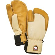 3-Finger Full Leather Short 33872 NaturalBrown/Tan サイズ8 [スノー グローブ]