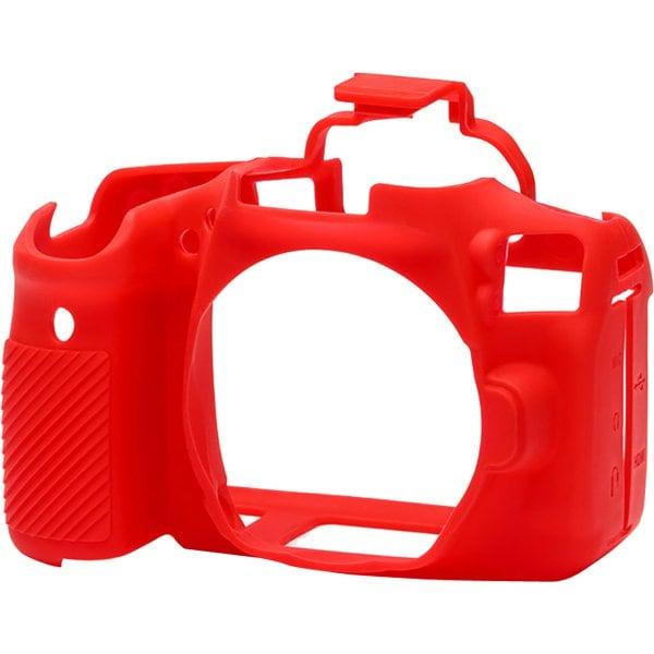 イージーカバー Canonデジタル一眼 EOS 90D用 レッド [カメラ用シリコンカバー]