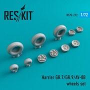 RSK72-0212 ハリアー GR.7/GR.9/AV-8B ホイールセット [1/72スケール レジン製ディティールアップパーツ]