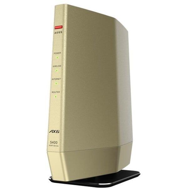 WSR-5400AX6-CG [Wi-Fi 6(11ax)対応 無線LANルーター プレミアムモデル シャンパンゴールド]