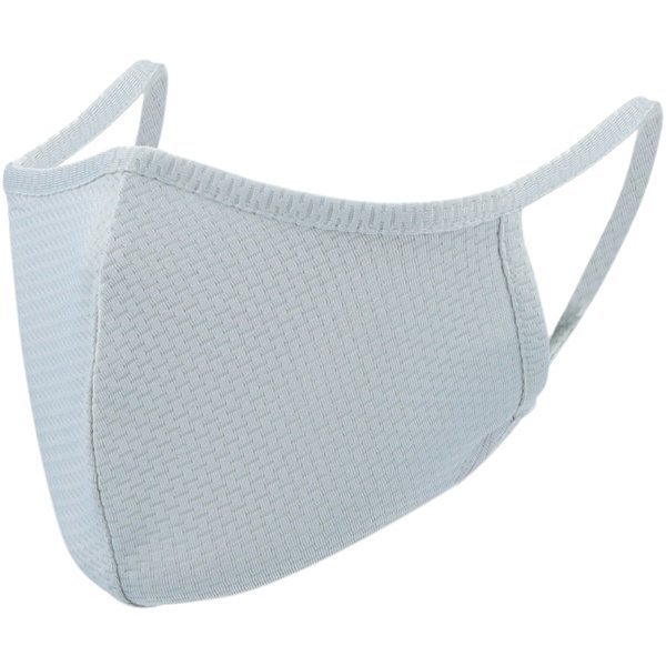 爽快マスク Lサイズ 男性普通サイズ ライトグレー COOL MASK 洗えるマスク 1枚入り AC-MASK001L-GY