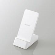 W-QS06WH [Qi規格対応 ワイヤレス充電器/スタンドQi/5W/10W/2枚コイル/ホワイト]