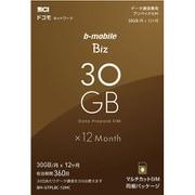 BM-GTPLBC-12MC [b-mobile Biz プリペイドSIM データ通信専用 (ドコモ対応/マルチ)]