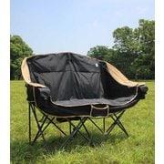 60/40Cloth Twin Sofa Chair GO0402F BLACK フリーサイズ [アウトドア チェア]