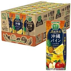 カゴメ 野菜生活100 濃厚果実 沖縄パインミックス リーフパック 195ml×24本入り