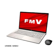 FMVN90E2G [ノートパソコン LIFEBOOK NHシリーズ/17.3型ワイド/Core i7-10750H/メモリ 8GB/Optane16GB+SSD 256GB+HDD1TB/BDXL対応Blu-Rayドライブ(スーパーマルチドライブ機能対応)/Windows 10 Home 64ビット/Office Home and Business 2019/シャンパンゴールド]