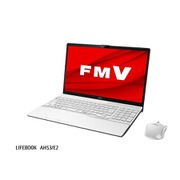 FMVA53E2W [ノートパソコン LIFEBOOK AHシリーズ/15.6型ワイド/Core i7-10510U/メモリ 8GB/SSD 512GB/DVDスーパーマルチドライブ/Windows 10 Home 64ビット/Office Home and Business 2019/プレミアムホワイト]