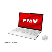 FMVA77E2WC [ノートパソコン LIFEBOOK AHシリーズ/15.6型ワイド/Core i7-10710U/メモリ 16GB/SSD 1TB/BDXL対応Blu-rayディスクドライブ/Windows 10 Home 64ビット/Office Home and Business 2019/プレミアムホワイト]