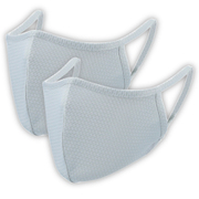 2枚入り 爽快マスク Lサイズ 男性普通サイズ ライトグレー COOL MASK 洗えるマスク AC-MASK001L2-GY