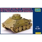UU72481 チェコ・PM-1火炎砲車戦車・プロトタイプ [1/72スケール プラモデル]