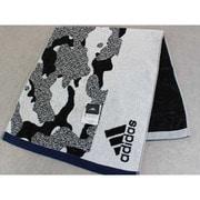 06-1192100W [adidas カモフラ フェイスタオル 34cm×80cm ホワイト]