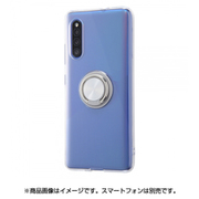 IN-GA41TC30/SVM [Galaxy A41 用 TPUソフトケース リング付 シルバー]