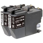 JIT-KB3111B2P [ブラザーLC3111BK-2PK互換 日本製リサイクルインクカートリッジ]