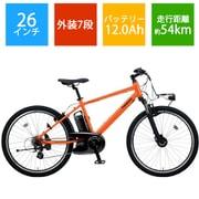 BE-ELH342AK [電動スポーツバイク Hurryer(ハリヤ) 26型 外装7段変速 パールオレンジ]