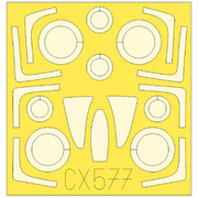 EDUCX577 F-14A 塗装マスクシール グレートウォール用 [1/72スケール マスクシール]