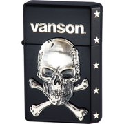 vanson×GEAR TOP クロスボーンスカル V-GT-04 ブラック [ライター]