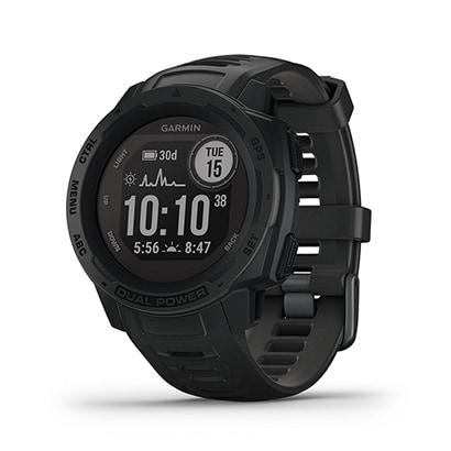 010‐02293‐31 [Instinct Dual Power Graphite (インスティンクト デュアルパワー グラファイト) GPSアウトドアスマートウォッチ]