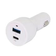 OWL-CPD30C1A1-WH [USB車載充電器 USB Type-A×1+PD3.0(30W)対応 USB Type-C×1 ホワイト]