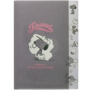 S2124807 PEANUTS(ピーナッツ) ダイカットクリアファイル 5P カラーセレクション グレー [キャラクターグッズ]
