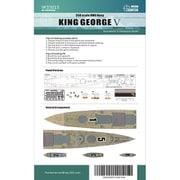 FLYW35015 WWII イギリス海軍 戦艦 キングジョージ5世 木製甲板シート タミヤ 78010用 [1/350スケール ディティールアップパーツ]