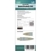 FLYW70096 イギリス海軍 戦艦 クイーンエリザベス 1941年木製甲板シート トランぺッター 05794用 [1/700スケール ディティールアップパーツ]