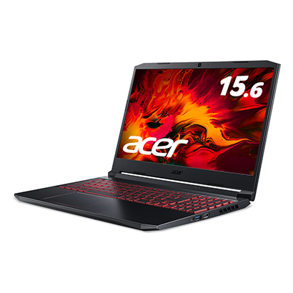 AN515-55-A76Y6T [ノートパソコン Core i7-10750H/GTX1660Ti/16GB/512GB SSD/ドライブなし/15.6型/Windows 10 Home/オブシディアンブラック]