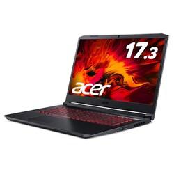 AN517-52-A76Y5T [ノートパソコン Core i7-10750H/GTX1650Ti/16GB/512GB SSD/ドライブなし/17.3型/Windows 10 Home/オブシディアンブラック]