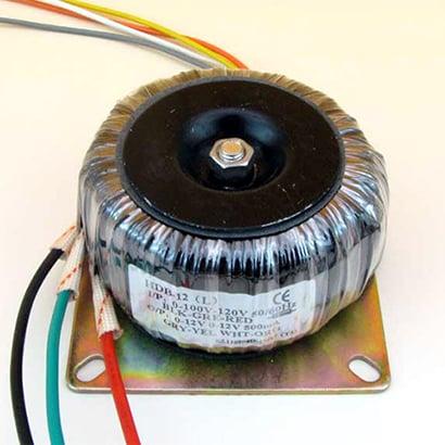 HDB-12(L) [トロイダルトランス 0-12V 500mA/0-12V 500mA]