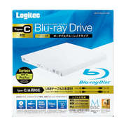 LBD-PVA6U3CVWH [ブルーレイドライブ Suface(サーフェス)対応 USB3.2 Gen1(USB3.0) スリム 再生&編集ソフト付 UHDBD対応 Type-Cケーブル付属 ホワイト]