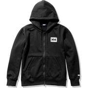 HHロゴフルジップスウェットフーディー HH Logo Full-zip Sweat Hoodie HE32060 ブラック(K) XLサイズ [アウトドア スウェット メンズ]