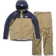 ヘリーレインスーツ Helly Rain Suit HOE12000 タン×ヘリーブルー(TH) XLサイズ [アウトドア レインウェア メンズ]