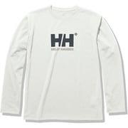 ロングスリーブロゴティー L/S Logo Tee HOE32050 ホワイト(W) XLサイズ [アウトドア カットソー メンズ]