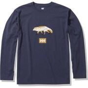 ロングスリーブアニマルティー L/S Animal Tee HOE32051 ヘリーブルー(HB) XLサイズ [アウトドア カットソー メンズ]