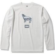 ロングスリーブアニマルティー L/S Animal Tee HOE32051 ホワイト(W) XLサイズ [アウトドア カットソー メンズ]