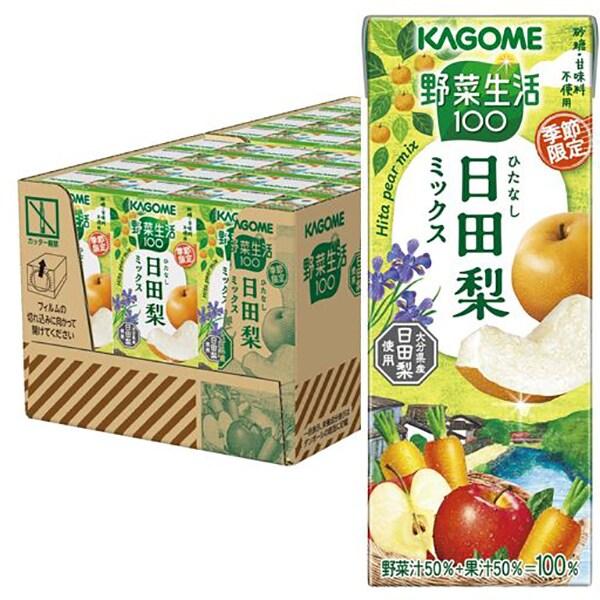 カゴメ 野菜生活100 日田梨ミックス 195ml×24本入り