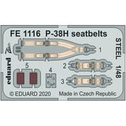 EDUFE1116 P-38H シートベルト ステンレス製 タミヤ用 [1/48スケール エッチングパーツ]