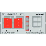 EDUSS719 F-14A F.O.D.エッチングパーツ グレートウォール用 [1/72スケール エッチングパーツ]