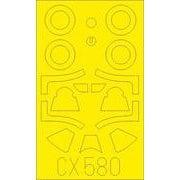 EDUCX580 P-51B/C マルコムキャノピー 塗装マスクシール ハセガワ/ホビー2000用 [1/72スケール 塗装マスクシール]