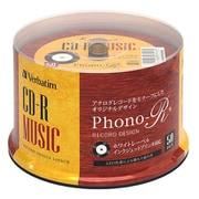 AR80FHP50SV6 [音楽用CD-R 80分 レコード風レーベル/インクジェットプリンタ対応 50枚パック]
